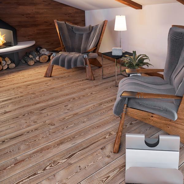 rustikaler Holzboden